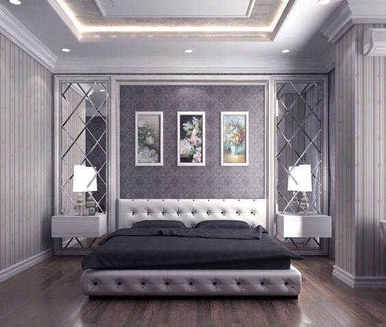 Gương ghép trang trí phong ngủ cực đẹp