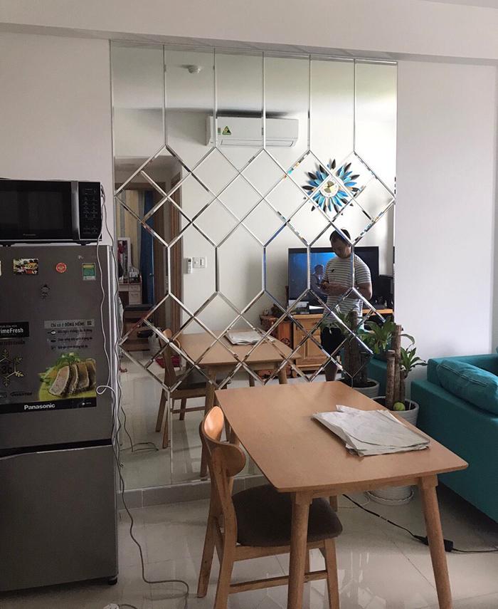 Gương dàn tường trang trí phòng ăn