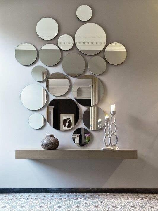 Gương kính trang trí bàn trang điểm
