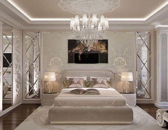 Gương ghép ô trang trí nghệ thuật phòng ngủ