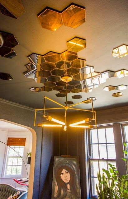 Gương ghép nghệ thuật cho trần nhà